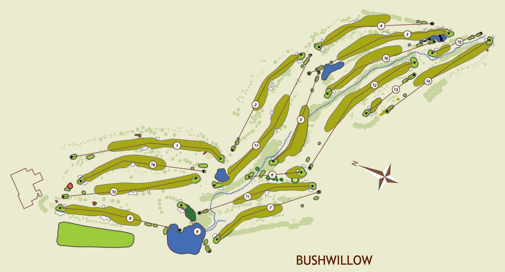 Bushwillow course layout