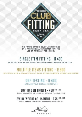 Club Fitting Rates